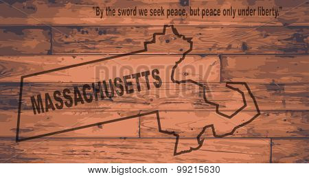 Massachusetts Map Brand
