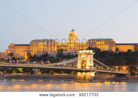 Budapest Hungary Museum and Chain Bridge