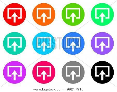 enter flat design modern vector circle icons colorful set for web and mobile app isolated on white background