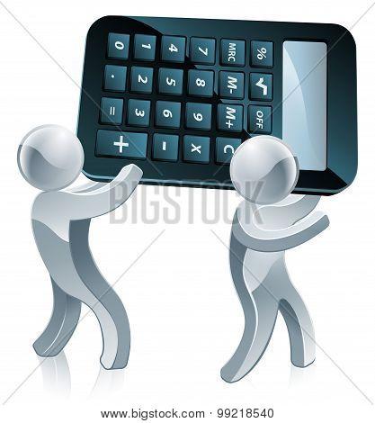 Calculator Silver People
