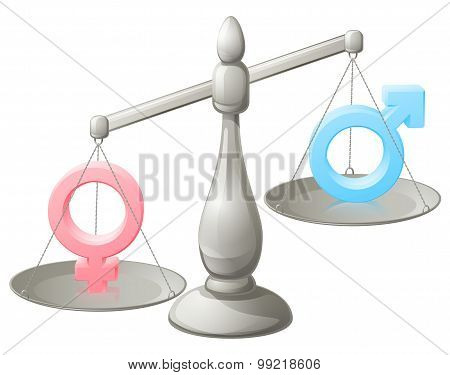 Man Woman Scales Concept