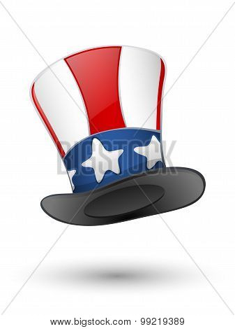 Patriotic Hat. Vector Illustration
