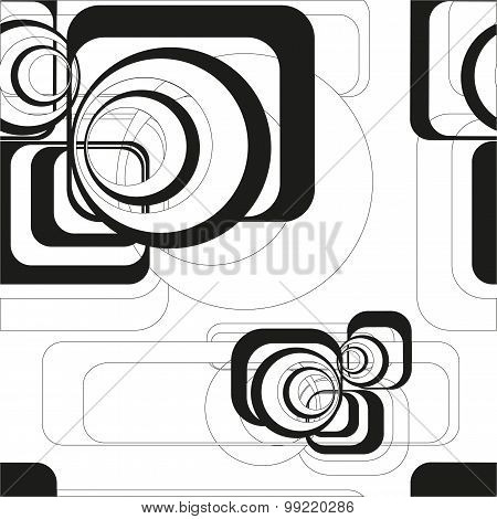 Seamless vector geometric background with pattern abstract figures