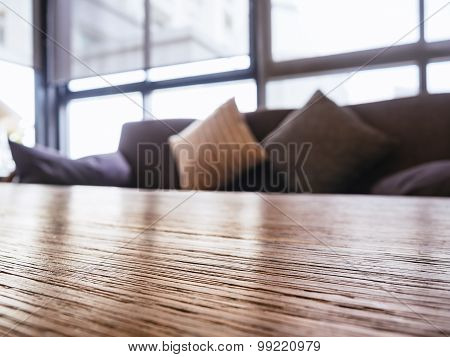 Table Top Sofa And Pillows Interior Decoration