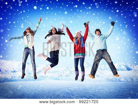 Friendship Winter Happiness Togetherness Concepts
