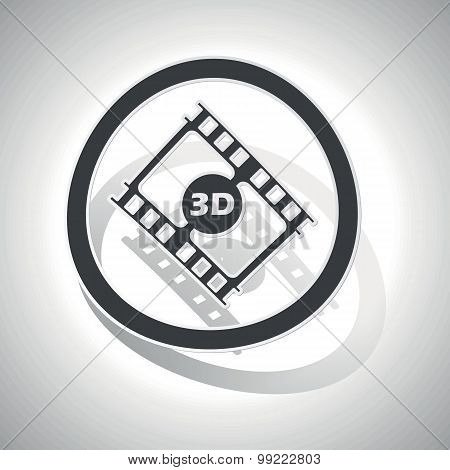3D movie sign sticker, curved