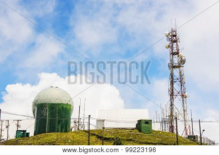 Doi Inthanon Control and Reporting Center with radar station ,Chiang Mai ,Thailand.