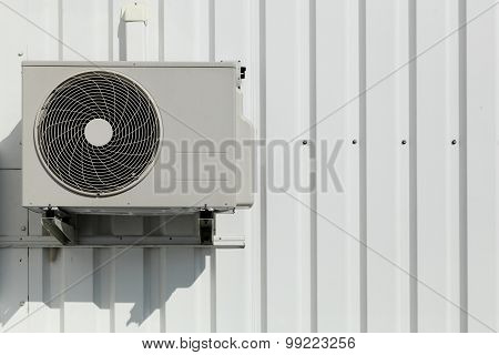 Air conditioner on a wall