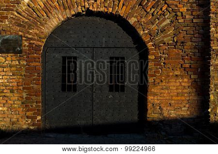 Dungeon like doors of the Roman well at Kalemegdan fortress, Belgrade