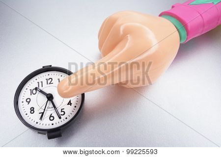 Plastic Hand And Clock