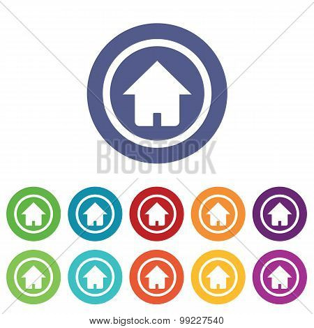 Home signs colored set