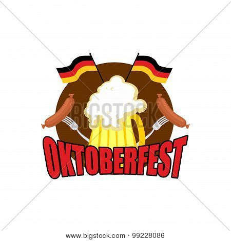 Oktoberfest Logo. Beer Festival In Germany. Vector Illustration