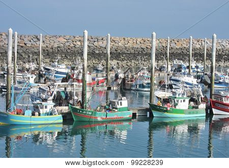 Boats in Saint-Quay Portrieux harbor in Brittany
