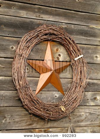 Copper Star With Wreath