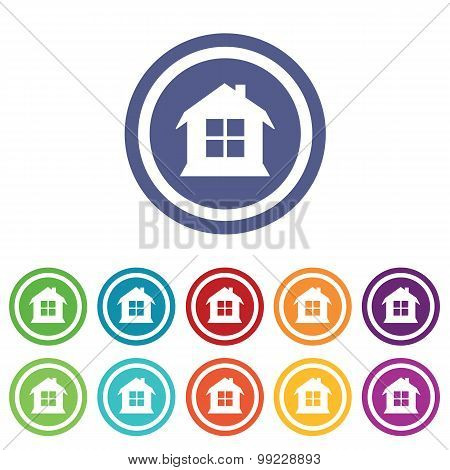 House signs colored set
