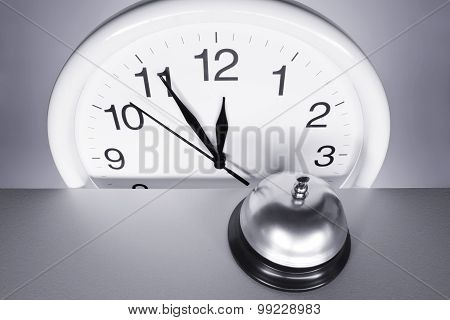 Wall Clock And Call Bell
