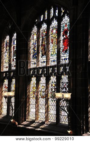 St Marys Guildhall Stained Glass Windows.