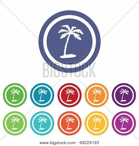 Vacation signs colored set