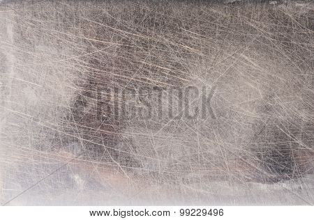 Scratches On Stainless Steel Background