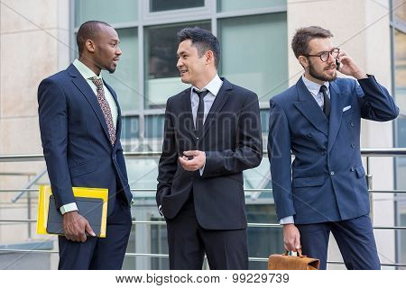 Portrait of multi ethnic business team
