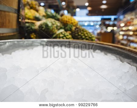 Crushed Ice Mock Up Display for Fresh Food And Drink