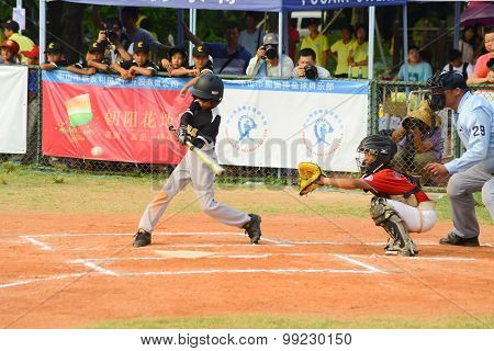 Zhongshan Panda Cup, Zhongshan, Guangdong - August 4:batter Of Team Wuxi Experimental Primary School