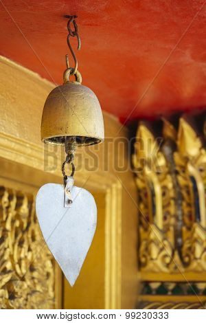 Golden Bell In Buddhist Temple