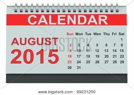 August 2015 Desk Calendar