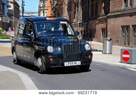 Black taxi, Coventry.