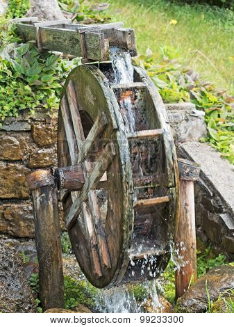 Watermill By The Stream