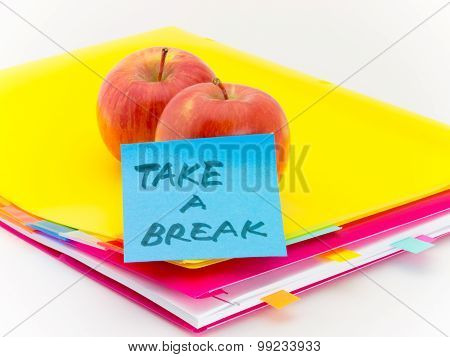 Office Documents And Apples; Take A Break