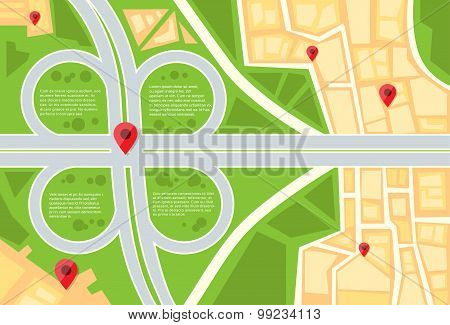 City Map Navigation Search Hand Magnifying Glass Street