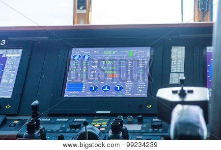 Navigation Screen On Cruise Ship