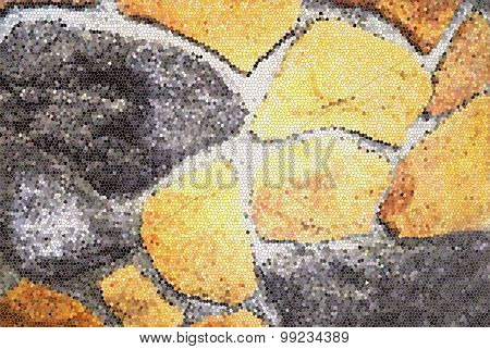 Colorful stones wall texture background, mosaic effect  mosaic effect, Stained glass