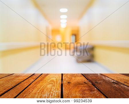 Blur Image Of Corridor And Light At Destination For Background Usage