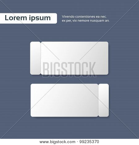 Blank Ticket Paper Sheet Cut Line, Empty Page Vector