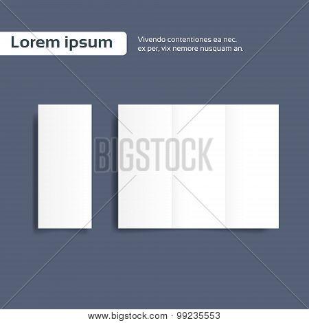 Blank Brochure Paper Sheet, Folder Leaflet Empty Page