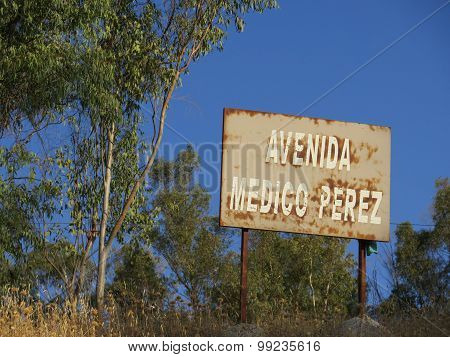 Alora Street Sign