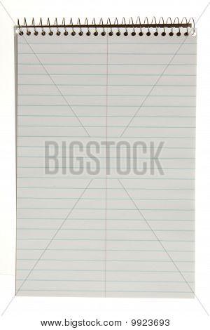 Spiral Bound, White Notepad