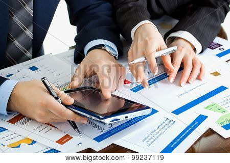 Business working with documents