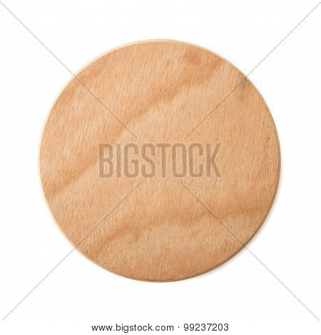 Empty Brown Wooden Plate