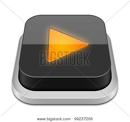 Play Button Icon, Vector Illustration