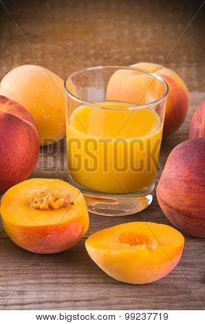 Peach juice.