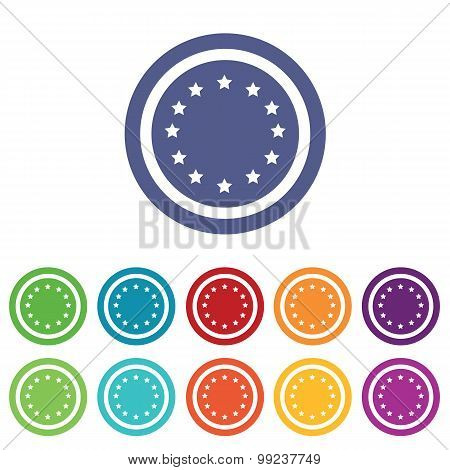 European Union signs colored set