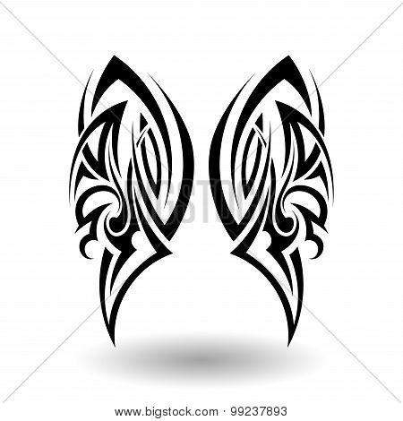 Hand Drawn Tribal Tattoo