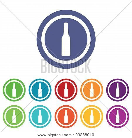 Alcohol signs colored set