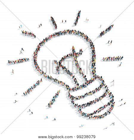 group  people  shape  lamp cartoon