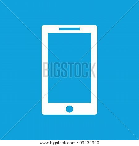 Tablet icon on blue