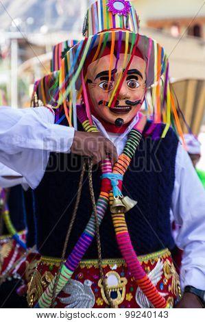 Ollantaytambo Festival Parade Participant