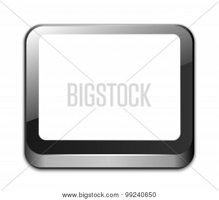 Tablet Icon With Blank White Screen And Space For Your Text. Easy Editable Vector